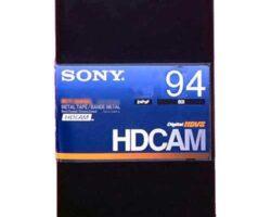 Sony BCT-94HDL HDCAM Large 94min Tape
