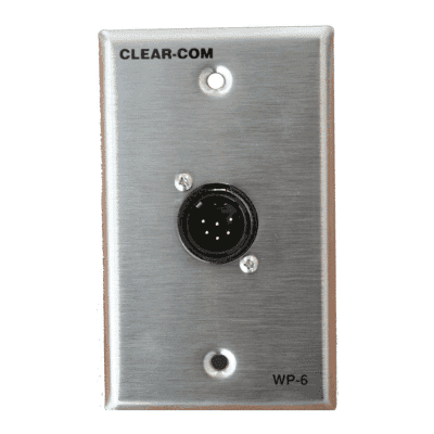 Clear-Com WP-6 Intercom Outlet Wall Plate