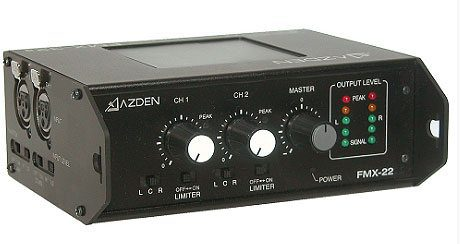 Azden FMX-22 2-Channel Portable Microphone Mixer