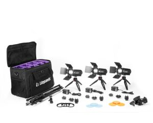 Litepanels Caliber 3-Light Kit delivers the power of LED Fresnels