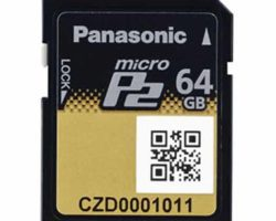 Panasonic AJ-P2M064AG 64GB MicroP2 Card