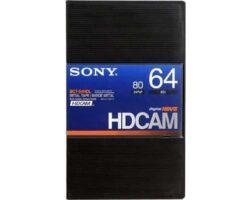 Sony BCT-64HDL HDCAM Large 64min Tape