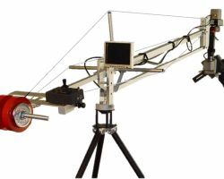 Video Solutions Silver Jib 4 Camera Crane Designed for Outdoor