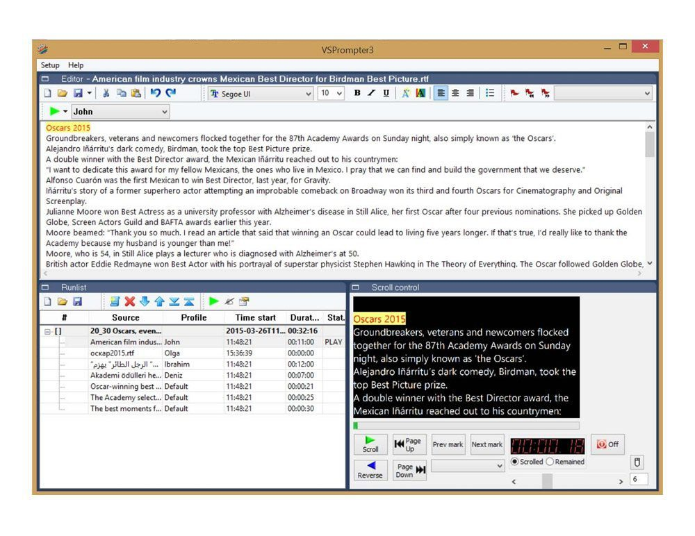 Teleprompter Teleprompter Free Software