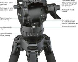 Miller 1033 Compass 12 Fluid Head Payload Range of 2-10kg