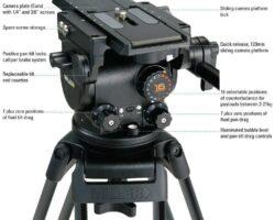 Miller 1074 Arrowx 5 Fluid Head Perfect for ENG/EFP Master