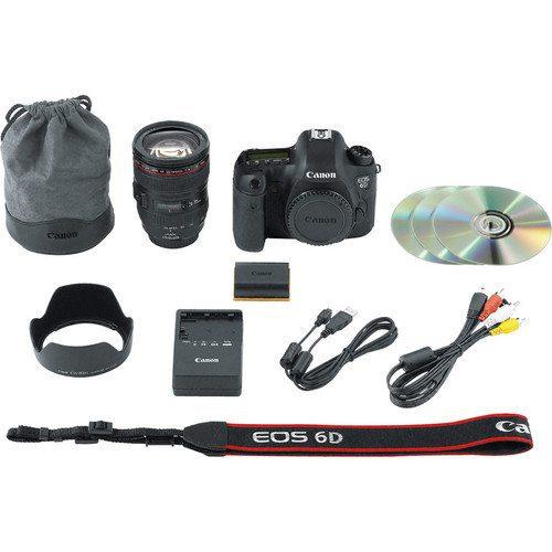 Canon EOS 6D Kit (EF 24-105mm IS USM) Full-frame Sensor DSLR Camera