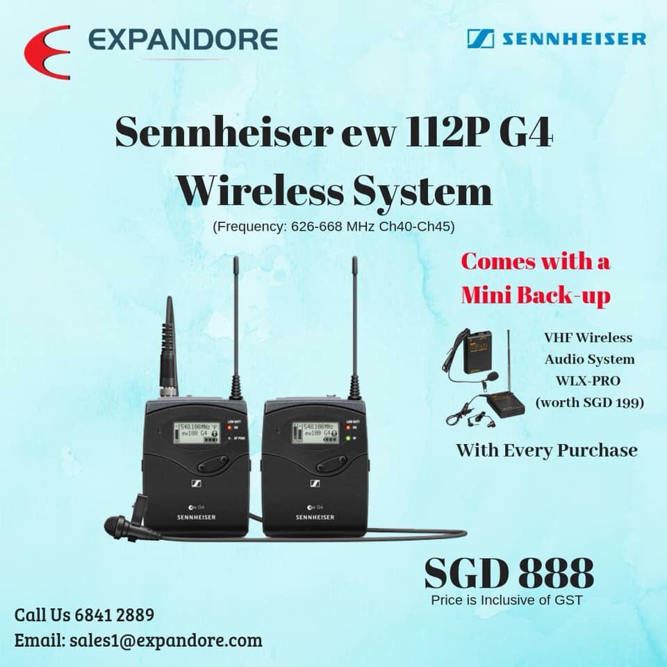 Sennheiser ew 112P G4 Wireless System