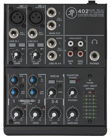 Mackie 402VLZ4 4-Ch Compact Mixer