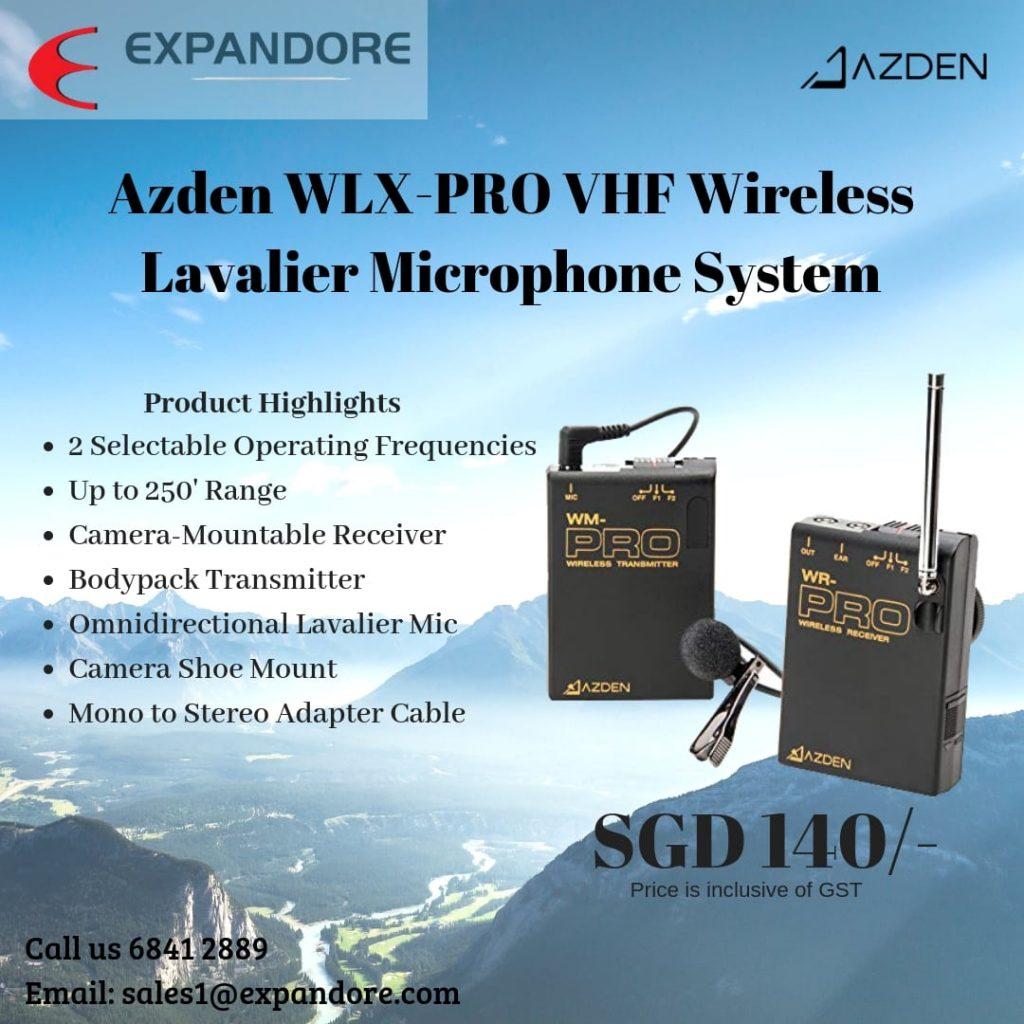 Azden WLX-PRO VHF Wireless Microphone