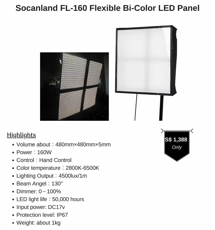 Socanland FL-160 Flexible Bi-Color LED Panel