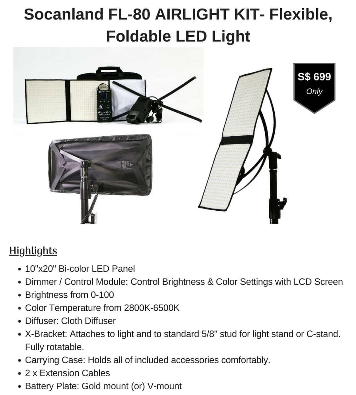 Socanland FL-80 AIRLIGHT KIT LED Light