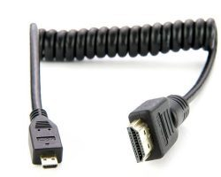 ATOMOS Coiled Micro HDMI to Full HDMI Cable