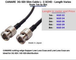 Canare 3G-SDI Slim cable