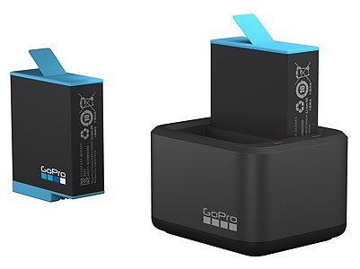 GoPro HERO9 Black Dual Battery Charger + Spare Battery